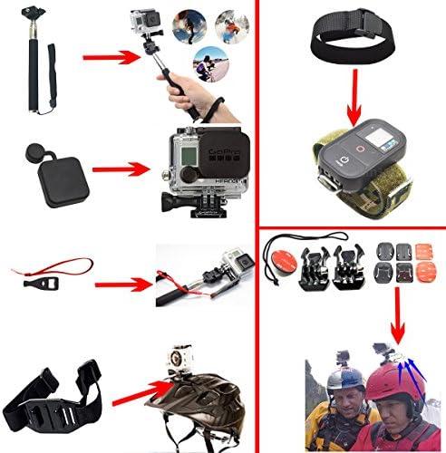 Soft Digits 33-en-1 Kit de accesorios para GoPro Hero 4 de plata ...