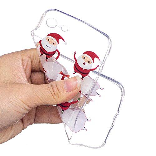 iPhone 7 / 8 Custodia , Moda 6 Babbo Natale Silicone leggero Morbido TPU Sollievo Sottile Protezione Antiurto Copertura Antiscivolo Resistente Coperture Cover Case Custodia per Apple iPhone 7 / 8