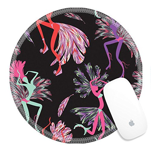 Brazil Carnival Costumes For Sale (Luxlady Round Gaming Mousepad 37730292 Brazilian Carnival Vector seamless pattern with dancing women in costumes of feathers Bright and cheerful)