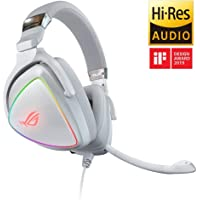 ASUS ROG Delta RGB gaming headset with Hi-Res ESS Quad-DAC, circular RBG lighting effect and USB-C connector for PCs, consoles and mobile gaming