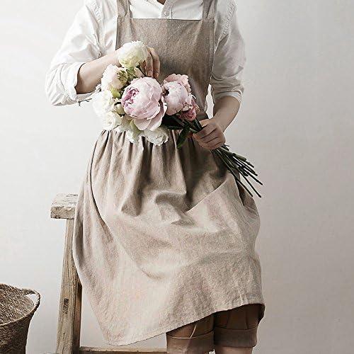 Gris Atelier Tablier Tunique V/êtements Bavette Adulte Robe Ajustable avec Pour Femmes Chef Compatible avec Cuisine Poterie Garage Jardin et dautres Activit/és Artisanat