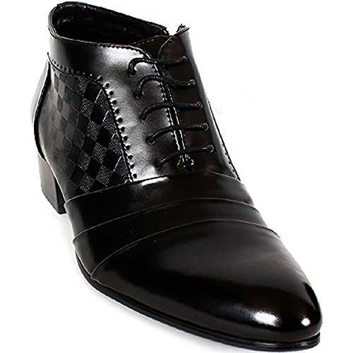 Picture of New Mens Oxford Dress Formal Leather Lace up Ankle Boots Shoes Black