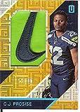 Football NFL 2016 Unparalleled RPS Rookie Materials Brand Logo #18 C.J. Prosise MEM 1/2 Seahawks
