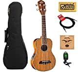 Oscar Schmidt All Koa Concert Acoustic/Electric Ukulele, OU5E,W/ Gigbag,Tuner,Strings.Cable & PC