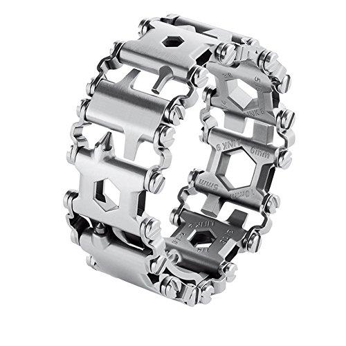 Man Outdoor Survival Bracelet Multifunctional Titanium Steel Spliced Bracelet Wearing Screwdriver Tool - Titanium Steel Mens Bracelet