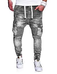 BEHYPE Men's Jeans Pants Regular fit Destroyed effect with Pockets RJ-2271
