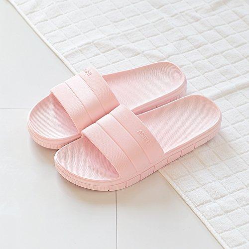 DogHaccd Zapatillas,El cuarto de baño femenino Verano zapatillas home interior de plástico grueso antideslizante cool parejas masculinas zapatillas de baño verano Polvo1