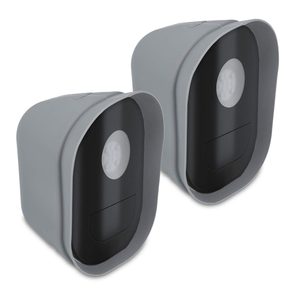 kwmobile 2X Skin for Arlo Security Light - Silicone Security Camera Case Outdoor CCTV Protective Cover - Grey by kwmobile