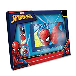 Spiderman- Set Reloj Digital y Billetera en Caja (MV15408), (Kids Licensing 1)