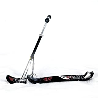 TOOMD Traîneau Adulte de Ski d'hiver, Scooter Adulte d'enfants, équipement extérieur de Ski de Ski en Aluminium épais