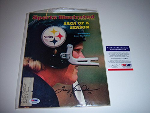Terry Bradshaw Pittsburgh Steelers,hof Signed Sports Illustrated - PSA/DNA Certified - Autographed NFL Magazines
