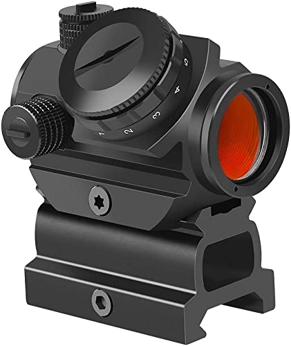 "Feyachi RDS-22 2MOA Micro Red Dot Sight Compact Red Dot Scope with 0.83"" Riser Mount Absolute Co-Witness with Iron Sight"