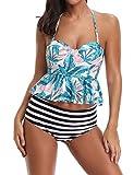 Women Push up Bikini Set Floral Bathing Suits Underwire Swimsuits Tankini Beach