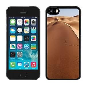 Customized Phone Case Design with Endless Desert Sand Dunes Tracks iPhone 5C Wallpaper