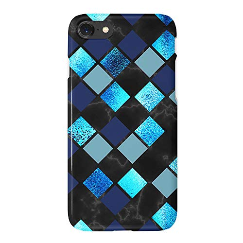 Black Marble Sparkle Blue Geometric Glitter Case Compatible with iPhone 6S 6 iPhone 8/7 Cute Protective Case Slim Soft TPU Silicon Shockproof Cover Compatible iPhone 6s/6/7/8(4.7