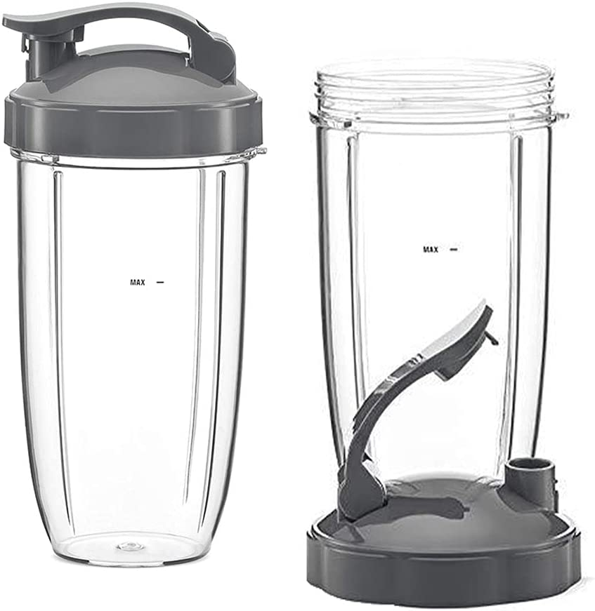 24oz Blender Replacement Cup with Flip Top To Go Lid, Nutribullet Replacement Parts Compatible with Nutribullet Blenders 600W & 900W (24oz)