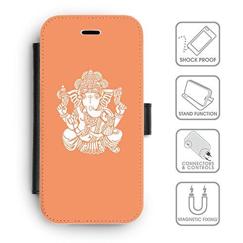 Flip PU Leather Wallet Case avec des fentes de carte de crédit // Q09580607 Hindou 12 Mandarine // apple iphone 7 2016