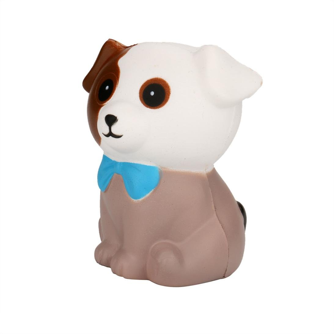 TrimakeShop Squeeze Spotted Dog Cream Bread Scented Slow Rising Toys Phone Charm Gifts