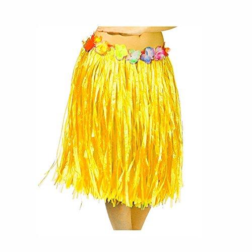 Falda Hawaiana Adulto Hula Amarilla (60 cm): Amazon.es: Juguetes y ...