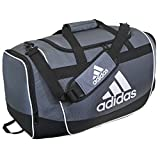 adidas Defender II Duffel Bag (Medium), Onix, 13 x 24 x 12-Inch