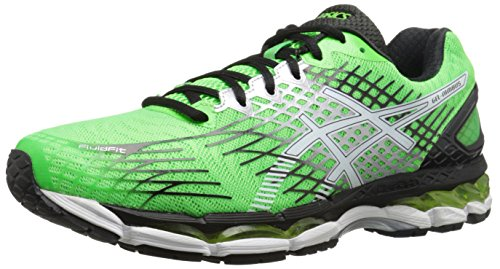 ASICS Men\'s Gel-Nimbus 17 Running Shoe,Flash Green/White/Black,8 M US