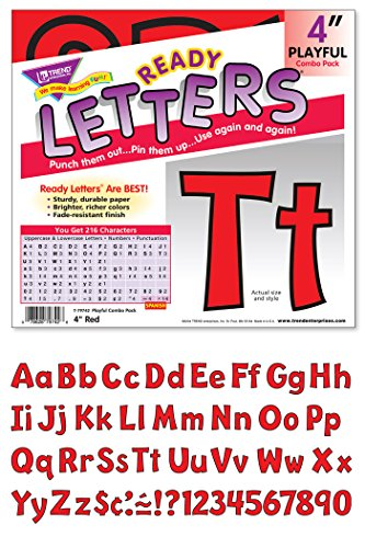 Lowercase Ready Letters - 4 Uppercase/Lowercase Playful Ready Letters Combo Pack
