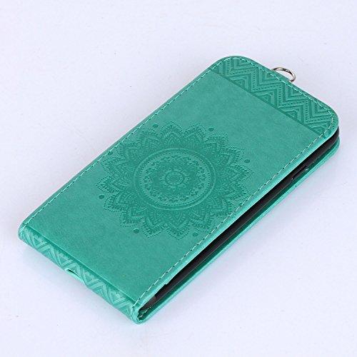 Für Apple iPhone 7 (4,7 Zoll) Tasche ZeWoo® Ledertasche Kunstleder Brieftasche Hülle PU Leder Schutzhülle Case Cover - GH017 / grün