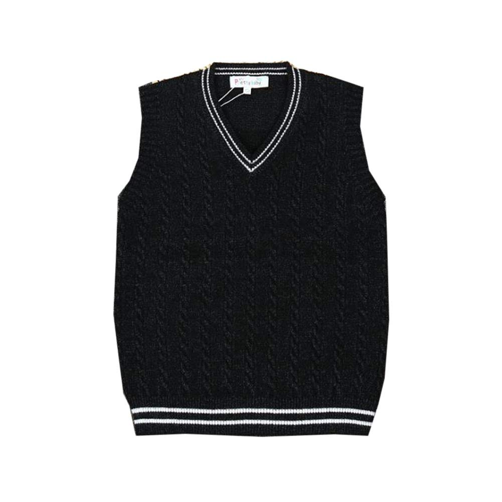 Autumn Knitted Vest Boys Tank Top Sleeveless Jumpers Kids V Neck Sweater Pullover for 1-7Years Old