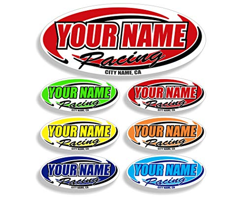 Custom Your Team Name Racing Trailer Decals | Your Name Trailer Stickers | Multiple Color & Size Options (Parts Bmx Racing)