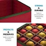 Large Christmas Ornament Storage Box with Dual