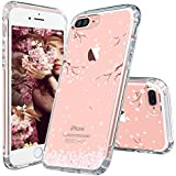 iPhone 7 Plus Case, Cover iPhone 7 Plus, MOSNOVO Cherry Blossom Floral Printed Flower Clear Design Plastic Back Hard Case with Soft TPU Bumper Protective Case Cover for Apple iPhone 7 Plus (5.5 Inch)