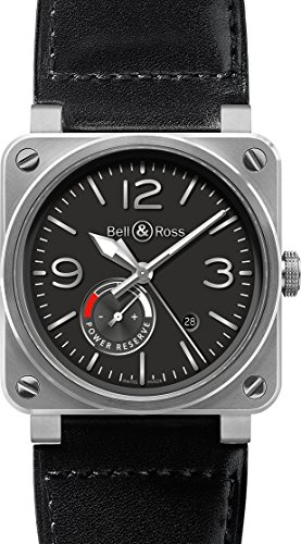 Bell-and-Ross-Automatic-Black-Dial-Black-Leather-Mens-Watch-BR0397-BL-ST