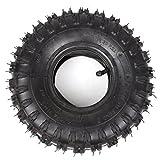 Wingsmoto 4.10-4 410-4 4.10/3.50-4 Tyre Tire + Inner Tube for Garden Rototiller Snow Blower Go Cart Kid ATV