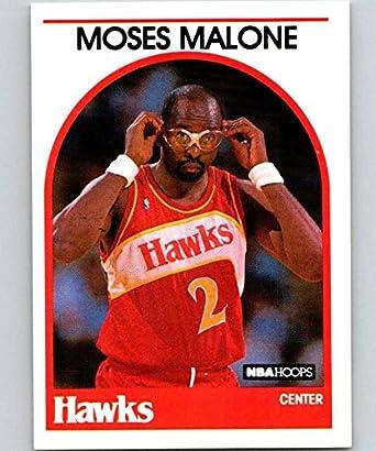1de67cea861 Amazon.com  1989-90 Hoops  290 Moses Malone Hawks NBA Basketball ...