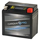 Chrome Battery YTX5L-BS High Performance - Maintenance Free - Sealed iGel Motorcycle Battery - Replaces Yuasa