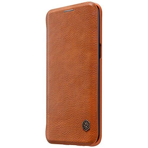 Samsung Galaxy S8 Plus Cover- MYLB Estilo del libro delgado de la PU del cuero del tirón cubierta funda case cover de la caja del teléfono para Samsung Galaxy S8 Plus smartphone (negro) marrón
