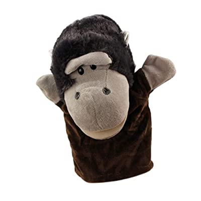 LIZHIOO Marioneta Moda Cute Cartoon Animal Doll Kids Glove Hand Puppet Soft Plush Toys Story Telling with (Color : D ): Juguetes y juegos