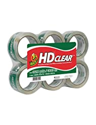 Duck Brand HD Clear High Performance Packaging Tape, 1.88-Inc...