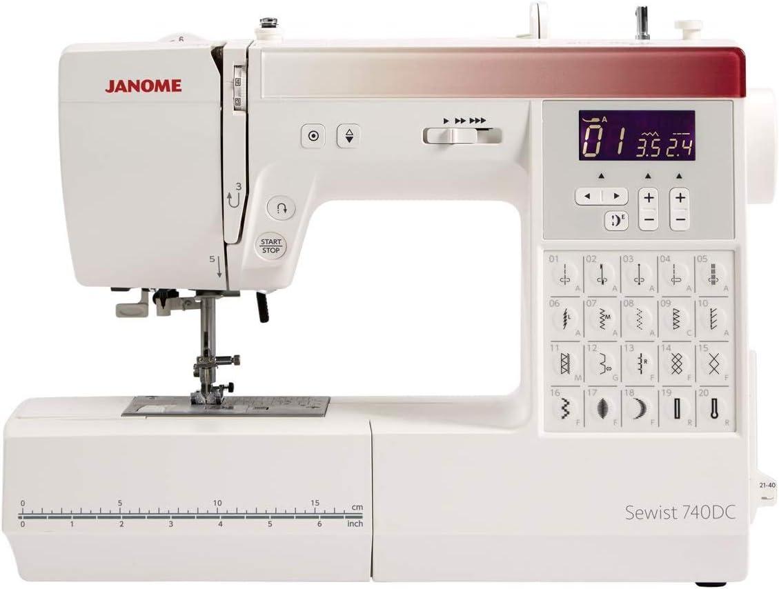 Janome 740DC máquina de coser con paquete de bono: Amazon.es: Hogar