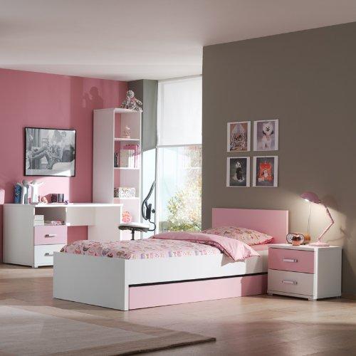 Kinderzimmer Kindermöbel Kinderzimmerset rosa weiss Kinderbett Schreibtisch Bett