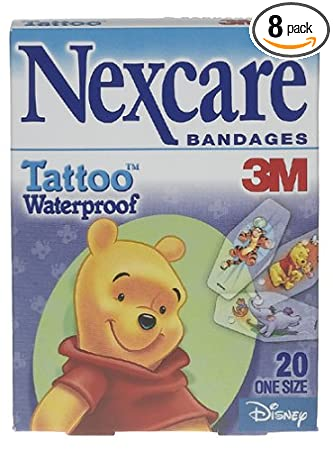 Amazon Com Nexcare Tattoo Waterproof Bandages Winnie The Pooh 20