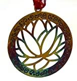 Lotus Ornament with Ribbon