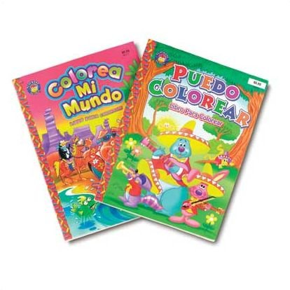 Spanish Coloring Book Set: Amazon.com: Books