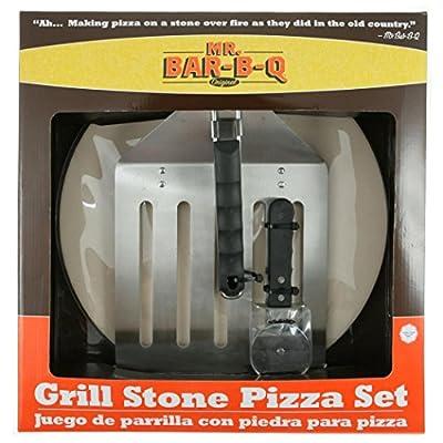 Mr. Bar-B-Q 06131X Grill Stone Pizza Set