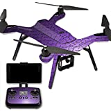 MightySkins Protective Vinyl Skin Decal for 3DR Solo Drone Quadcopter wrap cover sticker skins Purple Diamond Plate