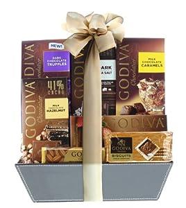 B001JCXG36 Wine.com Connoisseur Gift Basket Containing Godiva Chocolate