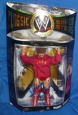 Nikolai Volkoff Signed WWE Classic Superstars Action Figure COA Auto W