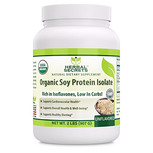 (Herbal Secrets Organic Soy Protein Isolate - 2lbs (Non-GMO) Unflavoured- Supports Cardiovascular Health, Overall Health and Well Being* - Support Healthy)