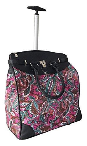 Trendy Flyer Computer/Laptop Rolling Bag 2 Wheel Case Pink ()