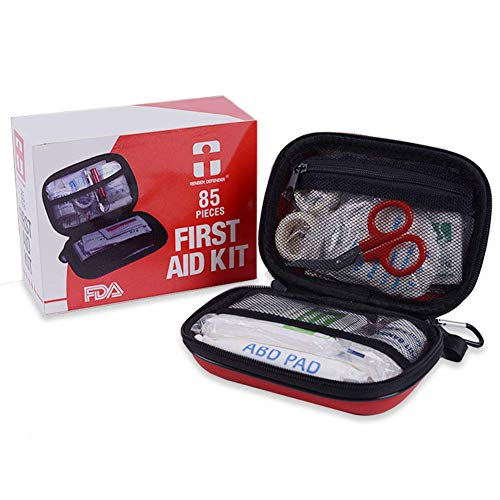 Camping First Aid Kit, 85 Pieces Emergency Survival Kit FDA Certification for Hiking, Home, Office, Workplace, Car (85 Piece First Aid Kit)